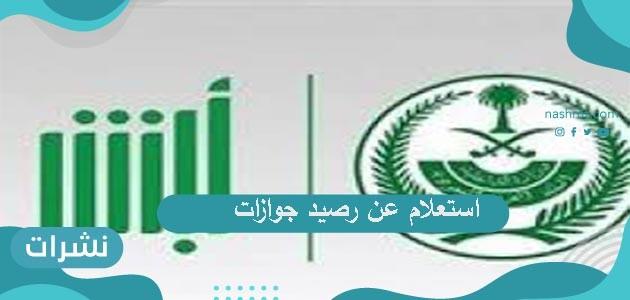خطوات استعلام عن رصيد جوازات عبر موقع وزارة الداخلية السعودية