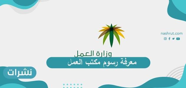 طريقة معرفة رسوم مكتب العمل عبر موقع وزارة العمل السعودية نشرات