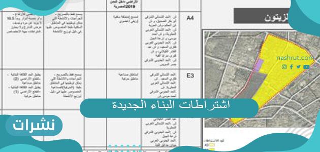 ما هي اشتراطات البناء الجديدة 1442 في السعودية