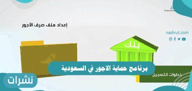 برنامج حماية الاجور في السعودية