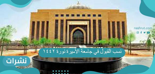 نسب القبول في جامعة الأميرة نورة 1442 وشروط التقديم