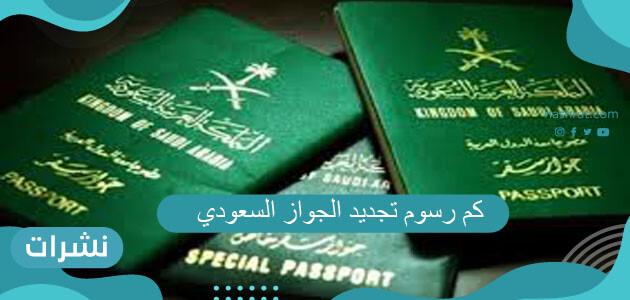 كم رسوم تجديد الجواز السعودي 2021 وطريقة التجديد