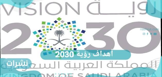 ما هي أهداف رؤية 2030 في التعليم الأساسي والفني والجامعي
