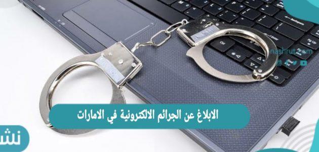 الابلاغ عن الجرائم الالكترونية في الامارات