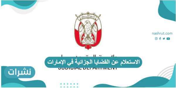 الاستعلام عن القضايا الجزائية في الإمارات ومحاكم دبي بالرقم الموحد