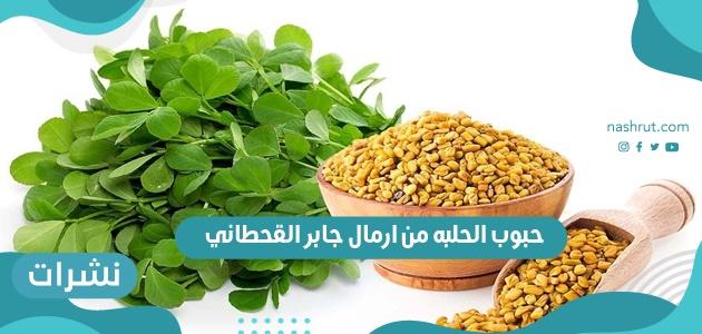 حبوب الحلبه من ارمال جابر القحطاني