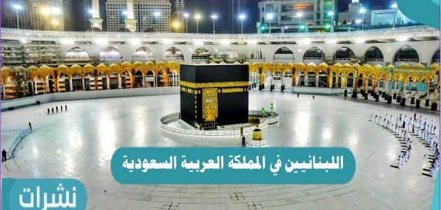 كم عدد اللبنانيين المتواجدين في المملكة العربية السعودية