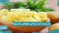 السعرات الحرارية في البطاطس المسلوقة والمشوية