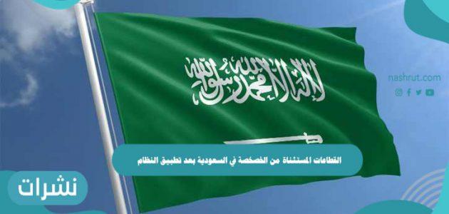 القطاعات المستثناة من الخصخصة في السعودية بعد تطبيق النظام