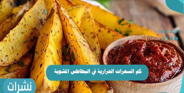كم السعرات الحرارية في البطاطس المشوية