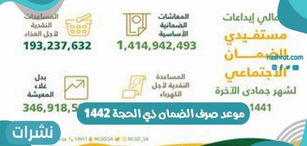 موعد صرف الضمان ذي الحجة 1442 في المملكة العربية السعودية