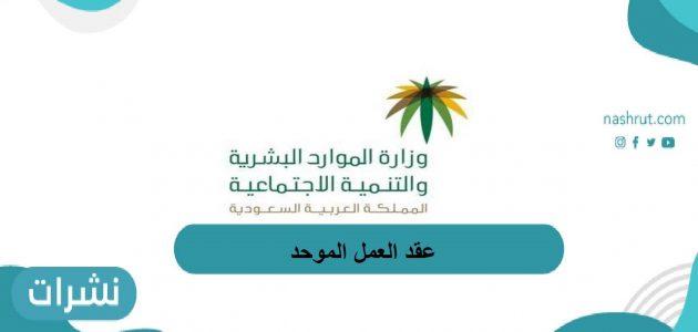 عقد العمل الموحد في السعودية   نموذج عقد عمل وزارة العمل word   نموذج عقد العمل الموحد لوزارة العمل pdf