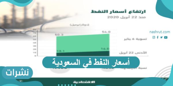 أسعار النفط للبرميل السعودي