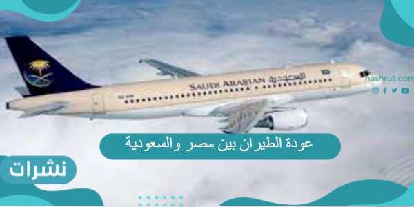 عودة الطيران بين مصر والسعودية