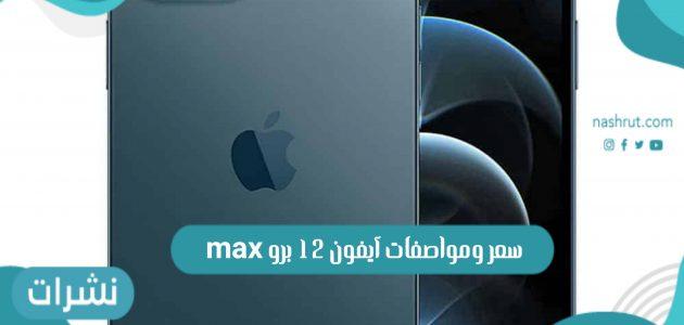 سعر ومواصفات آيفون 12 برو max