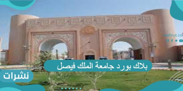 بلاك بورد جامعة الملك فيصل تسجيل دخول 1443