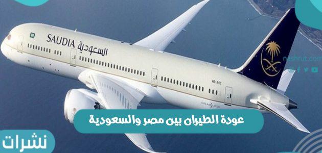 آخر القرارات الخاصة بـ عودة الطيران بين مصر والسعودية