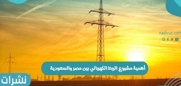 أهمية مشروع الربط الكهربائي بين مصر والسعودية